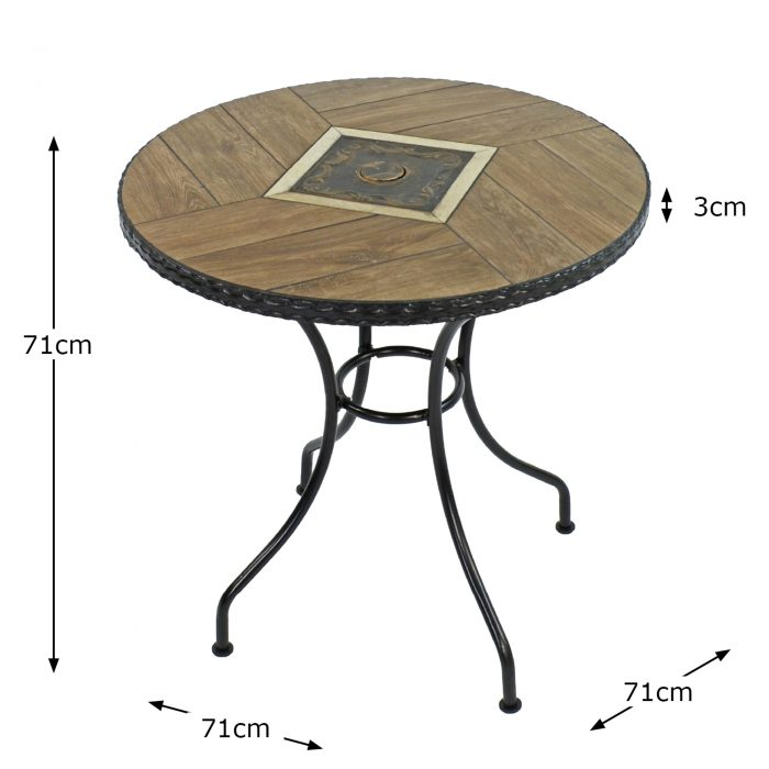 HASLEMERE 71CM BISTRO TABLE DIMENSION MS10