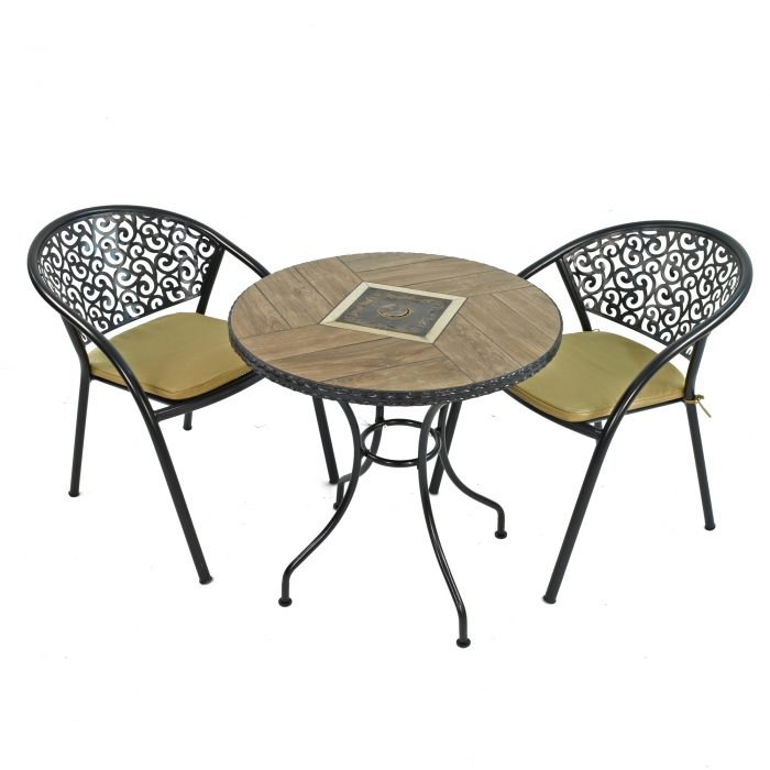 HASLEMERE 71CM BISTRO WITH 2 FLORENCE CHAIRS SET WG1