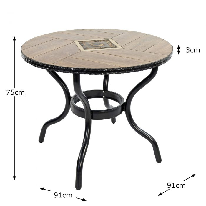 HASLEMERE 91CM BISTRO TABLE DIMENSION MS10