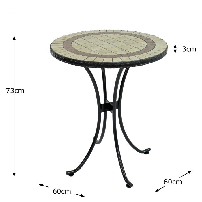 HENLEY 60CM BISTRO TABLE DIMENSION MS10