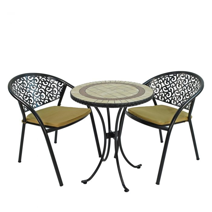HENLEY 60CM BISTRO WITH 2 FLORENCE CHAIRS SET WS1