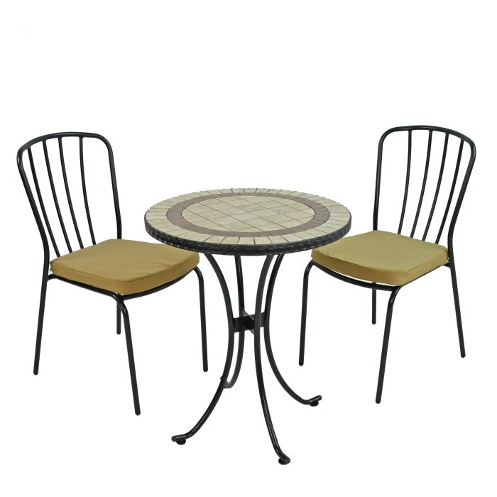 HENLEY 60CM BISTRO WITH 2 MILAN CHAIRS SET WS1