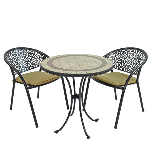 HENLEY 71CM BISTRO WITH 2 FLORENCE CHAIRS SET WS1