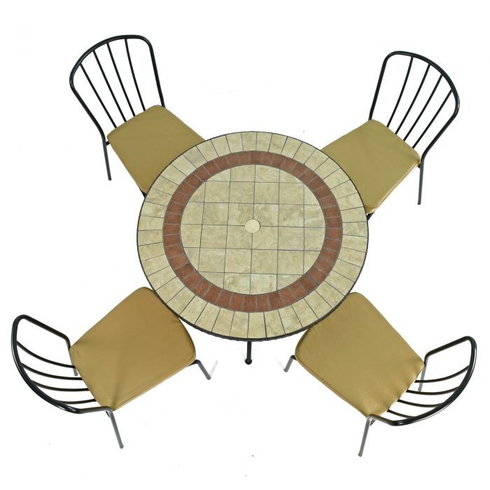 HENLEY 91CM PATIO WITH 4 MILAN CHAIRS SET WS2
