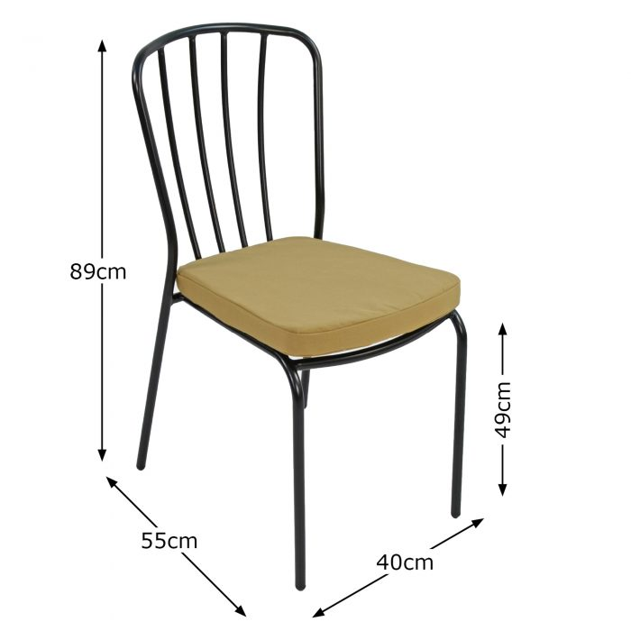 MILAN BISTRO CHAIR DIMENSION MS10