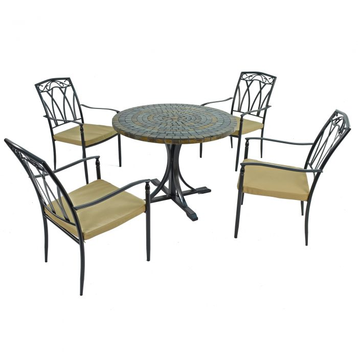 MONTEREY DINING TABLE WITH 4 ASCOT CHAIRS SET WG1