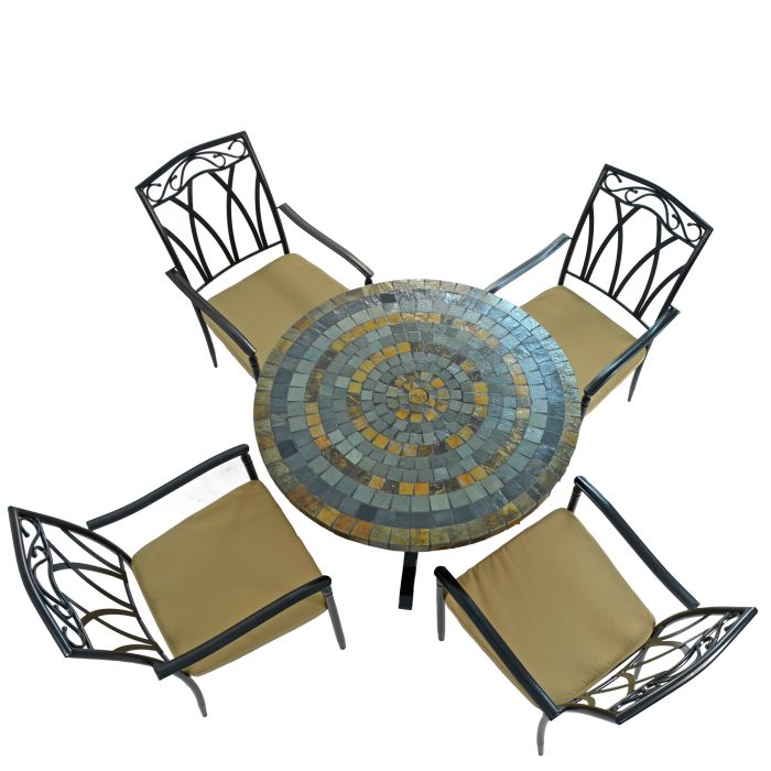 MONTEREY DINING TABLE WITH 4 ASCOT CHAIRS SET WG2