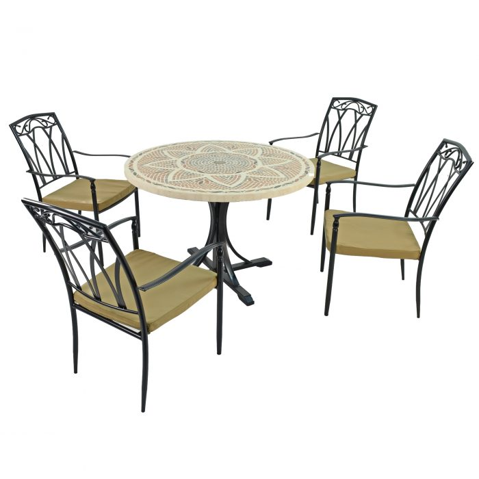 MONTPELLIER DINING TABLE WITH 4 ASCOT CHAIRS SET WG1