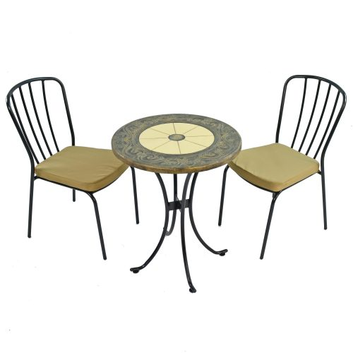 RENNES 60CM BISTRO WITH 2 MILAN CHAIRS SET WS1