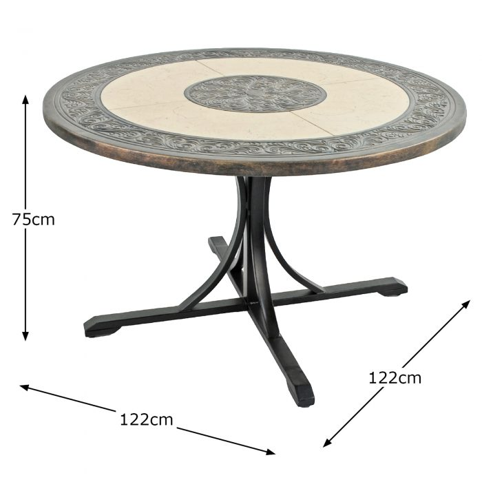 ST MALO 122CM DINING TABLE DIMENSION MS1