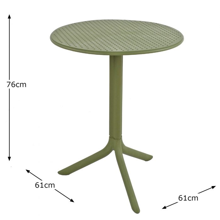 STEP TABLE OLIVE DIMENSION MS10