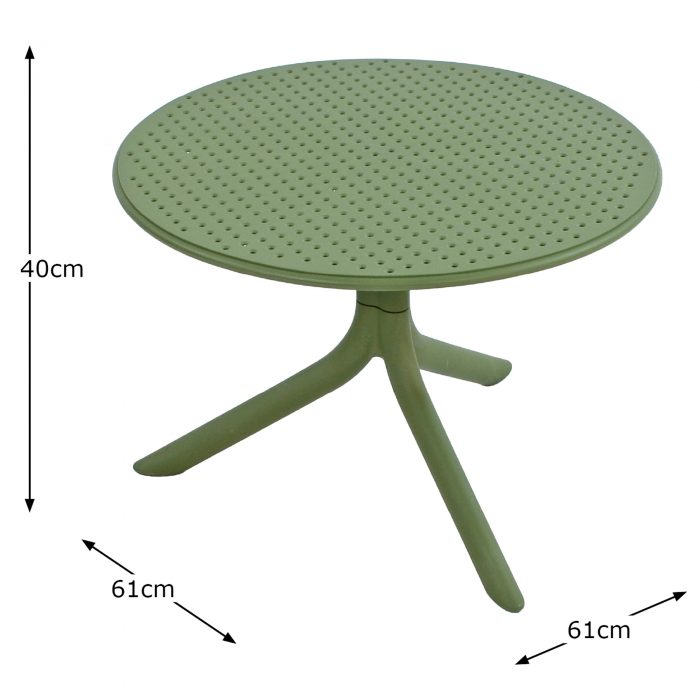 STEP TABLE OLIVE DIMENSION MS11