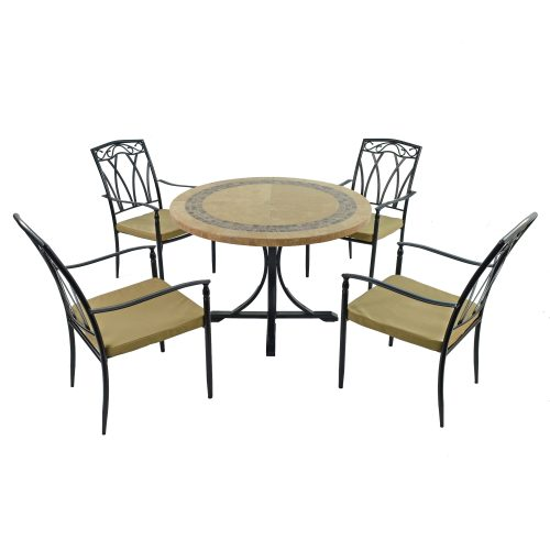 VERMONT DINING TABLE WITH 4 ASCOT CHAIRS SET WG1