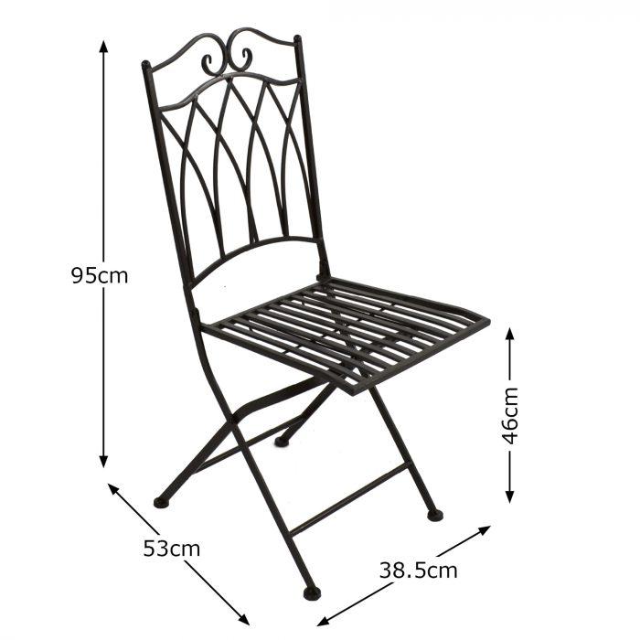 ROCHELLE Chair Dimension MS10