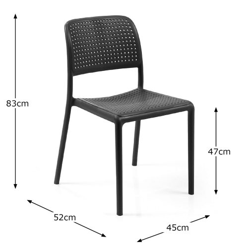 BISTROT CHAIR ANTHRACITE DIMENSION MS1