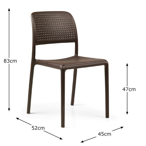 BISTROT CHAIR COFFEE DIMENSION MS1
