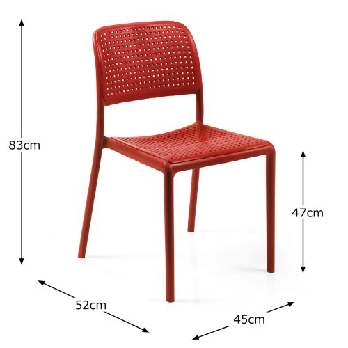 BISTROT CHAIR RED DIMENSION MS1