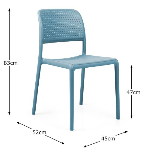 BISTROT CHAIR SKY BLUE DIMENSION MS1
