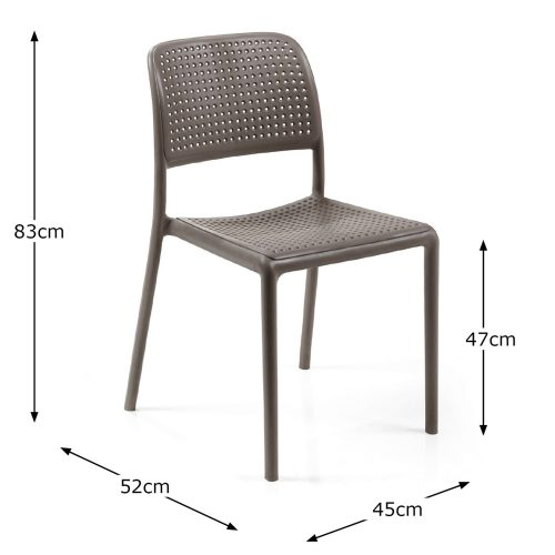BISTROT CHAIR TURTLE DOVE DIMENSION MS1
