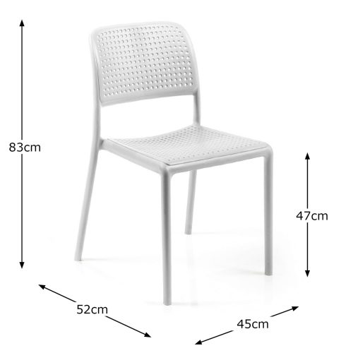 BISTROT CHAIR WHITE DIMENSION MS1