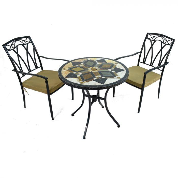 DARWIN 76cm Bistro with 2 ASCOT Chairs Set WG1