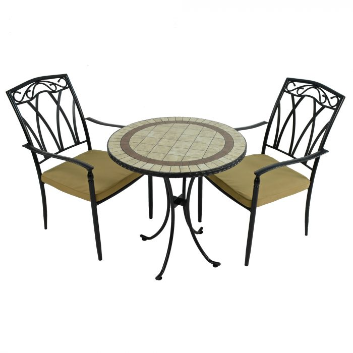 HENLEY 71cm Bistro with 2 ASCOT Chairs Set WG1