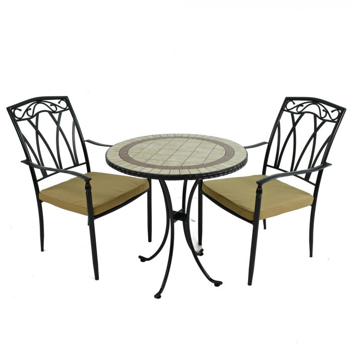 HENLEY 71cm Bistro with 2 ASCOT Chairs Set WG4