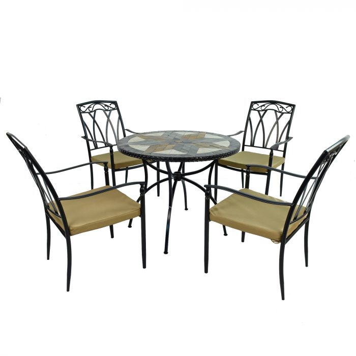 MONTILLA 91cm Patio with 4 ASCOT Chairs Set WG4