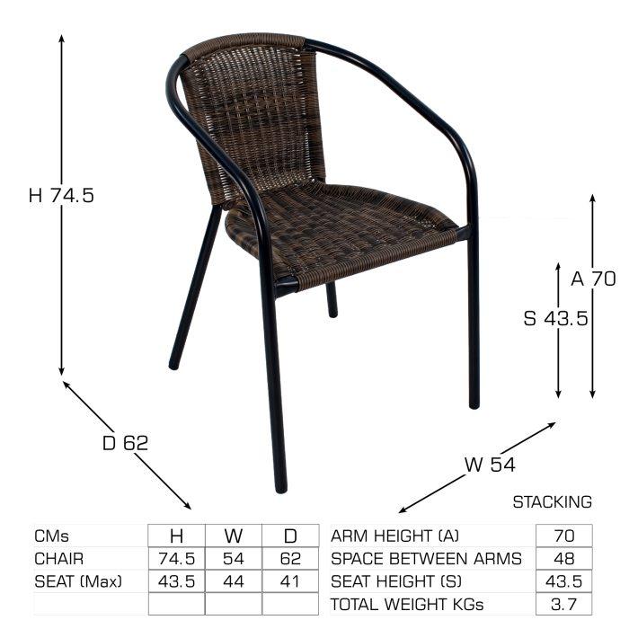 SAN REMO Chair Dimension MS1